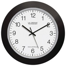 "La Crosse Technology WT-3129B 12"" Black Atomic Wall Clock - $46.67"