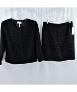 Laundry by Shelli Segal 2 Pc Black Jacket and Skirt Sz 6 NWT - $38.69
