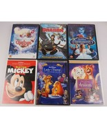 Kid's DVD Movie Lot Disney Lady & the Tramp Aristocats Enchanted Christm... - $18.67