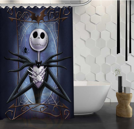 Party Happy Halloween 73 Shower Curtain Waterproof Polyester Fabric For Bathroom
