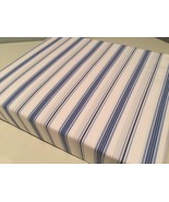 Ralph Lauren Archival Collection Jobs Lane Stripe Blue Fitted Sheet King - $116.00