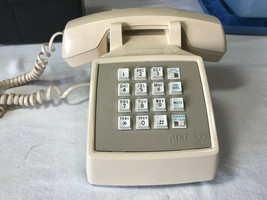 VINTAGE AT&T MODEL 100 DESK TOP PUSH BUTTON  TELEPHONE - $11.75
