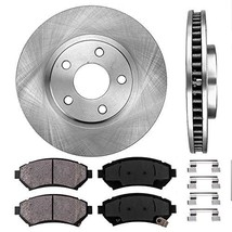FRONT 303 mm Premium OE 5 Lug [2] Brake Disc Rotors + [4] Ceramic Brake Pads + C - $69.29