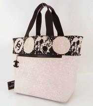 9257a87b950e73 Authentic CHANEL Pink Canvas CC Tote Bag Purse #32744 - $475.00