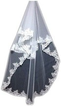 Simple Elegent Lace Appliques Wedding Veil One Size With Comb - $12.23