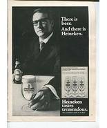 Heineken Tastes Tremendous There Is Beer And There Is Heineken 1970 Vint... - $1.50