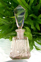 Vintage-Czech-Perfume-Bottle-Peach-Pink-Dauber-Intact-Signed~Highly Coll... - $199.99