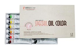 Shield Colors Special Oil Color 50ml 12 Colors (Set A)