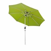 Aok Garden 9ft Aluminum Brush Market Outdoor Umbrella W/Crank System and... - $49.71
