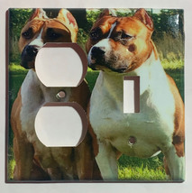 American Staffordshire Terrier Dog Light Switch Power Outlet wall Cover Plate image 3