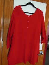 Beautiful Lane Bryant RED Sweater 60% Cotton 40% Polyester  NWT  size 14... - $14.73