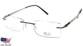 NEW BLU Designed in SOHO 116 COL.04 BROWN TITANIUM EYEGLASSES 50-18-140 ... - $63.21