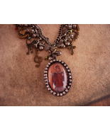 Religious charm Necklace / Infant of Prague / sacred heart / cross charm... - $180.00