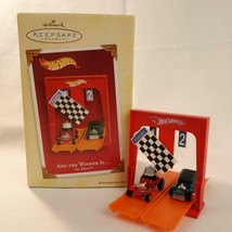 Hallmark Keepsake Ornament 2005 Hot Wheels And The Winner Is Collectors Series - $24.18