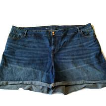 Old Navy Plus Size Shorts Sz 30 4x Cuffed Stretch Blue Denim Jean Curvy ... - $23.75
