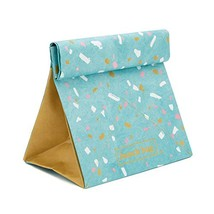 Blue Paper Lunch Bag – Insulated Thermal Tear-Proof Lunch Box – Reusable Waterpr - $14.90