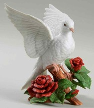 LENOX Annual Christmas Dove 1993 - Open Wings/Red Roses (Fine Porcelain) - $43.55