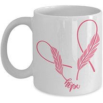Hope Breast Cancer Awareness Coffee Mug - Ceramic Cup Pink Ribbon Surviv... - $14.95+