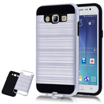 Hybrid Armor Dual Layer Protective Case for Samsung Galaxy J7 / J700 - W... - $4.99