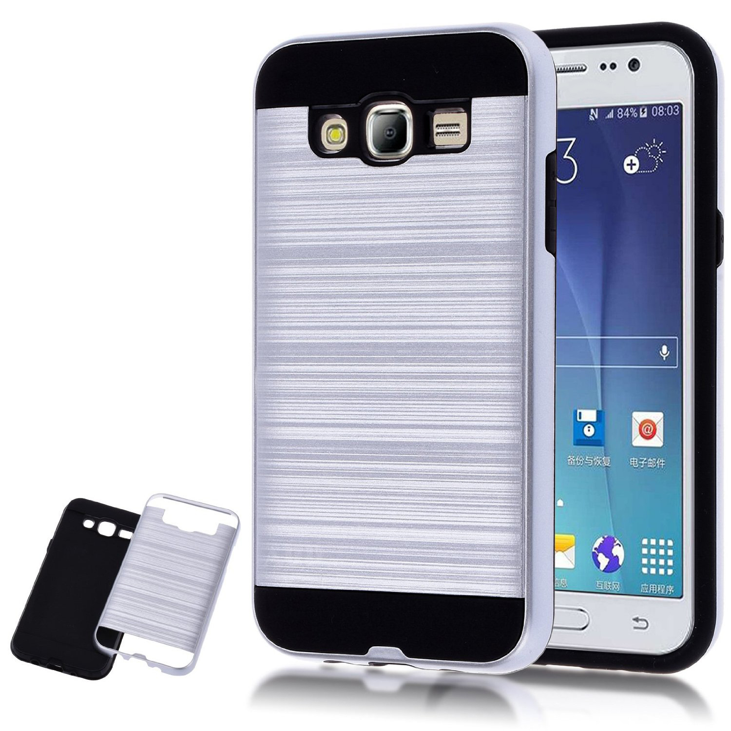 Ture hybrid armor dual layer protective case for samsung galaxy j7 j700 white p20160722144414102