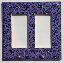 Haunted Mansion purple wallpaper Light Switch Outlet wall Cover Plate Home Decor image 2