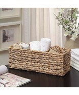 New Water Hyacinth Tank Storage Organizer Basket Woven Patio Outdoor Decor - $22.76
