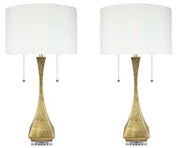 Urbanest Set of 2 Messina Table Lamps, Antique Gold, 28-inch Tall - $178.19