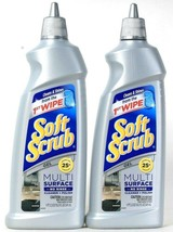 2 Bottles Soft Scrub 18.3 Oz Multi Surface No Rinse Cleaner And Polish Gel - $20.99