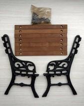 wrought iron dollhouse park bench - $18.76