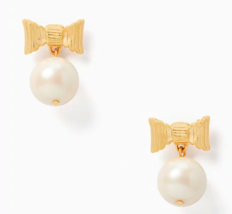 Kate Spade all wrapped up in pearls drop earrings Cream Yellow Gold Faux - $49.49