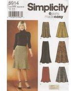 Simplicity 5914, Misses' Skirt, Size HH(6-12) - $9.85