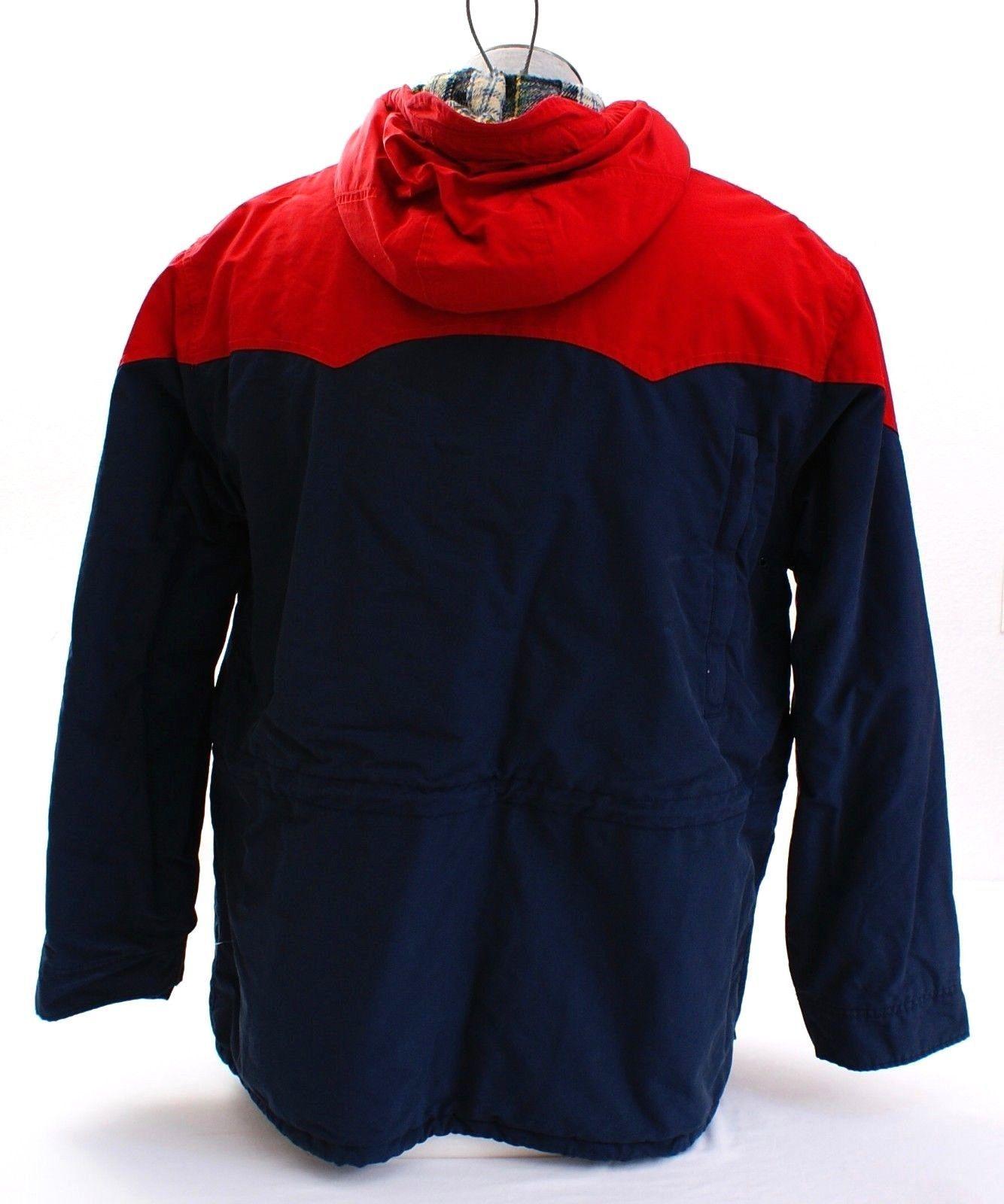 Polo Ralph Lauren Red & Blue Zip Front Hooded Jacket Coat Men's NWT