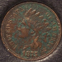 1875 Indian Head Cent VF Details #0058 - $32.95