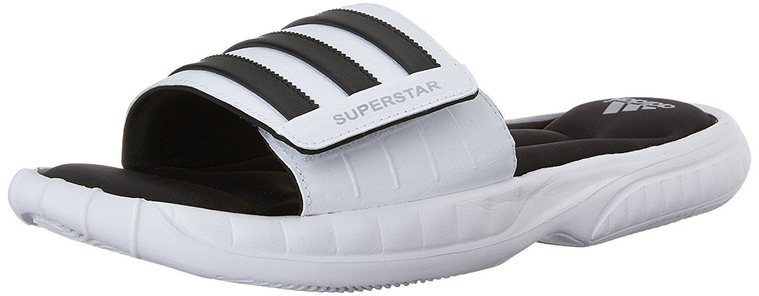 purchase cheap b219f 01b89 ADIDAS Superstar 3G Slide Sandals sz 13 White Black Ultra Plush Soft  Cushioning -  29.24
