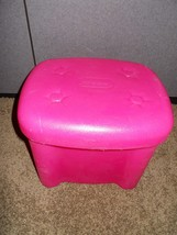 Little tikes tender heart Vanity Replacement chair stool w Disney Prince... - $10.95