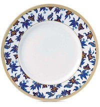 "Wedgwood Hibiscus Accent Salad Plate 9"" Blue Florals New - $39.90"