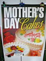 """Vintage 1997 Dairy Queen Mothers Day Cakes Poster 31"""" X 44"""" Ice Cream-Blizzards! - $29.95"""