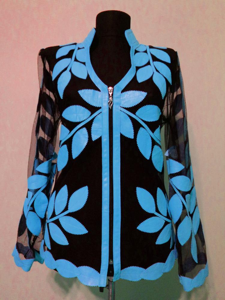 V Neck Pink Leather Leaf Jacket Womens All Colors Sizes Lightweight Short D10