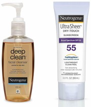 Neutrogena Deep Clean Facial Cleanser 200ml Dry Touch Sunblock SPF 50+ 88ml - $23.99