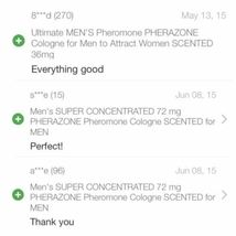MEN 3 BOTTLE Lot of SUPER CONCENTRATED Pherazone UNSCENTED Pheromone 72mg Spray image 4