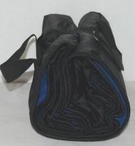 Unbranded Stadium Picnic Fleece Nylon Waterproof Blanket Royal Blue Black image 1