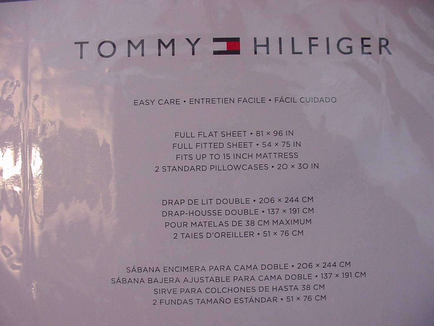 Tommy Hilfiger Blue and Navy Small Fish on White Sheet Set Full