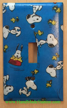 Peanuts Snoopy Woodstock Light Switch Power Outlet Wall Cover Plate Home Decor image 1