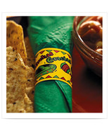 1 1/2 x 4 1/4 Mexican Fiesta Napkin Band/Case of 4000 - $68.15