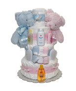 Twins Baby First Year Diaper Cake 4 Tiers - $160.00