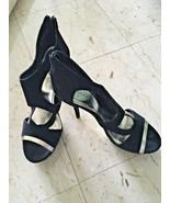 Ladies Baker Black Suede Platform Stiletto High Heel Sandals (10M) - $42.08