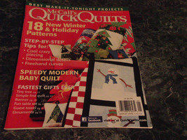 McCall's Quick Quilts Magazine December January 2012 Treat for Santa - $2.99