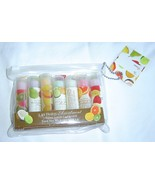 8 Piece Set Case and 7 Lip Balm Assortment Fruit flavors New - $9.99