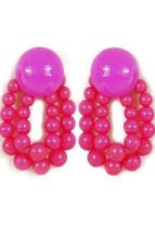 WOMEN'S FASHION JEWELRY COLOR STATEMENT POST EARRINGS PINK NEW NEVER WORN - $1.90