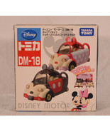 Disney Motors Mickey & Minnie Mouse Convertibles with Roofs Japan Takara... - $56.43